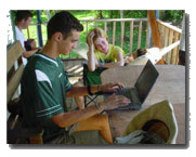 Students during leasure time at the center